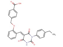 4-[(2-{[1-(4-ethylphenyl)-2,4,6-trioxotetrahydro-5(2H)-pyrimidinylidene]methyl}phenoxy)methyl]benzoic acid