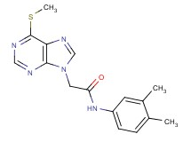 N-(3,4-dimethylphenyl)-2-[6-(methylthio)-9H-purin-9-yl]acetamide