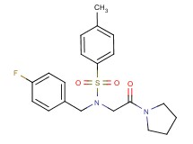 N-(4-fluorobenzyl)-4-methyl-N-[2-oxo-2-(1-pyrrolidinyl)ethyl]benzenesulfonamide (non-preferred name)