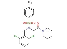 N-(2,6-dichlorobenzyl)-4-methyl-N-[2-oxo-2-(1-piperidinyl)ethyl]benzenesulfonamide (non-preferred name)