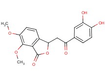 3-[2-(3,4-dihydroxyphenyl)-2-oxoethyl]-6,7-dimethoxy-2-benzofuran-1(3H)-one