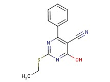2-(ethylthio)-4-hydroxy-6-phenyl-5-pyrimidinecarbonitrile
