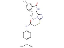 N-{1-[5-({2-[(4-isopropylphenyl)amino]-2-oxoethyl}thio)-4-methyl-4H-1,2,4-triazol-3-yl]-2-methylpropyl}-3-methylbenzamide