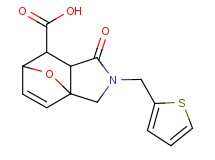 4-oxo-3-(2-thienylmethyl)-10-oxa-3-azatricyclo[5.2.1.0~1,5~]dec-8-ene-6-carboxylic acid