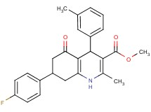 methyl 7-(4-fluorophenyl)-2-methyl-4-(3-methylphenyl)-5-oxo-1,4,5,6,7,8-hexahydro-3-quinolinecarboxylate