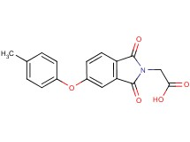 [5-(4-methylphenoxy)-1,3-dioxo-1,3-dihydro-2H-isoindol-2-yl]acetic acid