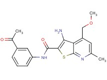 N-(3-acetylphenyl)-3-amino-4-(methoxymethyl)-6-methylthieno[2,3-b]pyridine-2-carboxamide
