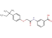3-({[4-(1,1-dimethylpropyl)phenoxy]acetyl}amino)benzoic acid