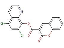 5,7-dichloro-8-quinolinyl 2-oxo-2H-chromene-3-carboxylate