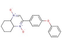 2-(4-phenoxyphenyl)-4a,5,6,7,8,8a-hexahydroquinoxaline 1,4-dioxide