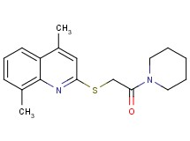 4,8-dimethyl-2-{[2-oxo-2-(1-piperidinyl)ethyl]thio}quinoline