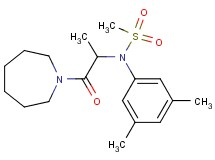 N-[2-(1-azepanyl)-1-methyl-2-oxoethyl]-N-(3,5-dimethylphenyl)methanesulfonamide (non-preferred name)