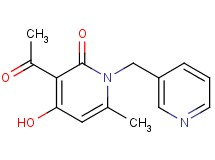 3-acetyl-4-hydroxy-6-methyl-1-(3-pyridinylmethyl)-2(1H)-pyridinone
