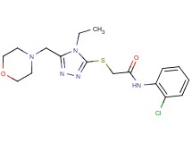 N-(2-chlorophenyl)-2-{[4-ethyl-5-(morpholin-4-ylmethyl)-4H-1,2,4-triazol-3-yl]thio}acetamide
