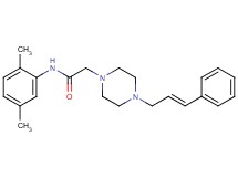 N-(2,5-dimethylphenyl)-2-[4-(3-phenyl-2-propen-1-yl)-1-piperazinyl]acetamide