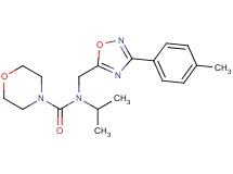 N-isopropyl-N-{[3-(4-methylphenyl)-1,2,4-oxadiazol-5-yl]methyl}-4-morpholinecarboxamide