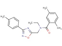 N-ethyl-2,5-dimethyl-N-{[3-(4-methylphenyl)-1,2,4-oxadiazol-5-yl]methyl}benzamide