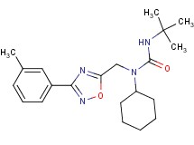 N'-(tert-butyl)-N-cyclohexyl-N-{[3-(3-methylphenyl)-1,2,4-oxadiazol-5-yl]methyl}urea