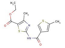 ethyl 4-methyl-2-{[(5-methyl-3-thienyl)carbonyl]amino}-1,3-thiazole-5-carboxylate