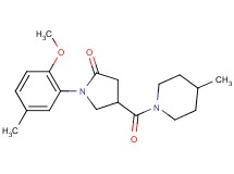 1-(2-methoxy-5-methylphenyl)-4-[(4-methyl-1-piperidinyl)carbonyl]-2-pyrrolidinone