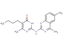 5-butyl-2-[(4,6-dimethyl-2-quinazolinyl)amino]-6-methyl-4(3H)-pyrimidinone