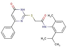 N-(2-isopropyl-6-methylphenyl)-2-[(6-oxo-4-phenyl-1,6-dihydro-2-pyrimidinyl)thio]acetamide