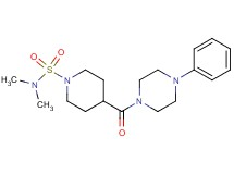N,N-dimethyl-4-[(4-phenyl-1-piperazinyl)carbonyl]-1-piperidinesulfonamide