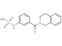 N-[3-(3,4-dihydro-2(1H)-isoquinolinylcarbonyl)phenyl]methanesulfonamide