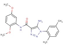 5-amino-N-(2,5-dimethoxyphenyl)-1-(2,5-dimethylphenyl)-1H-1,2,3-triazole-4-carboxamide
