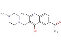 1-{4-hydroxy-2-methyl-3-[(4-methyl-1-piperazinyl)methyl]-6-quinolinyl}ethanone