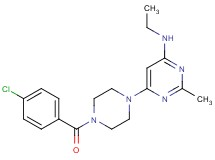 6-[4-(4-chlorobenzoyl)-1-piperazinyl]-N-ethyl-2-methyl-4-pyrimidinamine