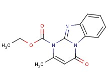 ethyl 2-methyl-4-oxopyrimido[1,2-a]benzimidazole-1(4H)-carboxylate