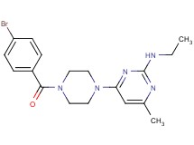 4-[4-(4-bromobenzoyl)-1-piperazinyl]-N-ethyl-6-methyl-2-pyrimidinamine