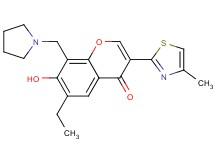 6-ethyl-7-hydroxy-3-(4-methyl-1,3-thiazol-2-yl)-8-(1-pyrrolidinylmethyl)-4H-chromen-4-one