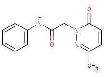 2-(3-methyl-6-oxo-1(6H)-pyridazinyl)-N-phenylacetamide