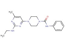 4-[2-(ethylamino)-6-methyl-4-pyrimidinyl]-N-phenyl-1-piperazinecarboxamide