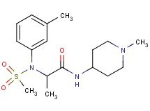 N~2~-(3-methylphenyl)-N~1~-(1-methyl-4-piperidinyl)-N~2~-(methylsulfonyl)alaninamide