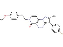 3-(4-fluorophenyl)-7-[2-(4-methoxyphenyl)ethyl]-2-methylpyrazolo[5,1-c]pyrido[4,3-e][1,2,4]triazin-6(7H)-one