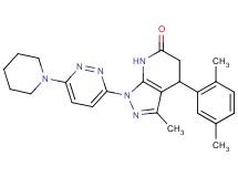 4-(2,5-dimethylphenyl)-3-methyl-1-[6-(1-piperidinyl)-3-pyridazinyl]-1,4,5,7-tetrahydro-6H-pyrazolo[3,4-b]pyridin-6-one