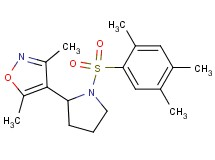 3,5-dimethyl-4-{1-[(2,4,5-trimethylphenyl)sulfonyl]-2-pyrrolidinyl}isoxazole