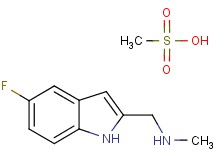 [(5-fluoro-1H-indol-2-yl)methyl]methylamine methanesulfonate