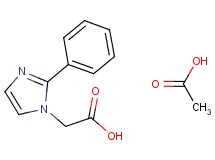 (2-phenyl-1H-imidazol-1-yl)acetic acid acetate