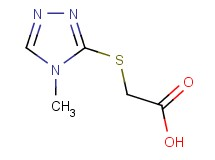 [(4-methyl-4H-1,2,4-triazol-3-yl)thio]acetic acid