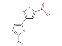 3-(5-methyl-2-thienyl)-1H-pyrazole-5-carboxylic acid