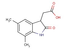 (5,7-dimethyl-2-oxo-2,3-dihydro-1H-indol-3-yl)acetic acid