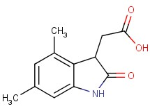 (4,6-dimethyl-2-oxo-2,3-dihydro-1H-indol-3-yl)acetic acid