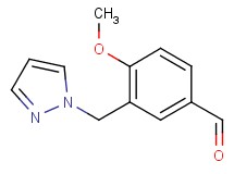 4-methoxy-3-(1H-pyrazol-1-ylmethyl)benzaldehyde