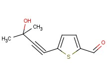 5-(3-hydroxy-3-methylbut-1-yn-1-yl)thiophene-2-carbaldehyde