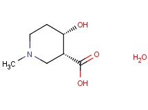 cis-4-hydroxy-1-methylpiperidine-3-carboxylic acid hydrate