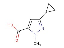3-cyclopropyl-1-methyl-1H-pyrazole-5-carboxylic acid
